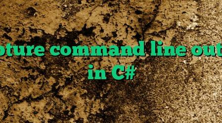 Capture command line output in C#