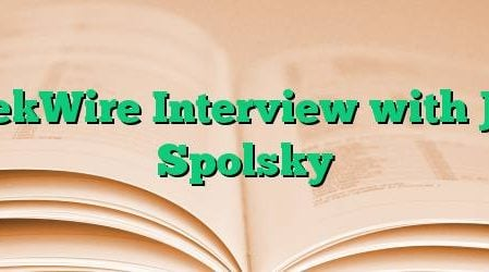 GeekWire Interview with Joel Spolsky