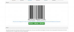 Screenshot of a barcode.windegger.wtf generated barcode.